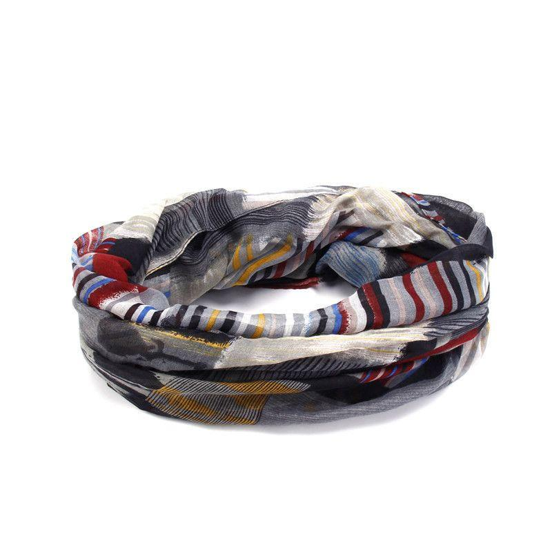 Designer Brand Fashion Infinity Scarfs Winter Warm Plaid Print Tube Scarves For Women V8A9213-SCARVES-SheSimplyShops