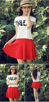 Shorts Skirts For Women New Fashion High Waist Solid Ball Gown Casual Loose Mini Skirt Pants 7 Color-SKIRT-SheSimplyShops