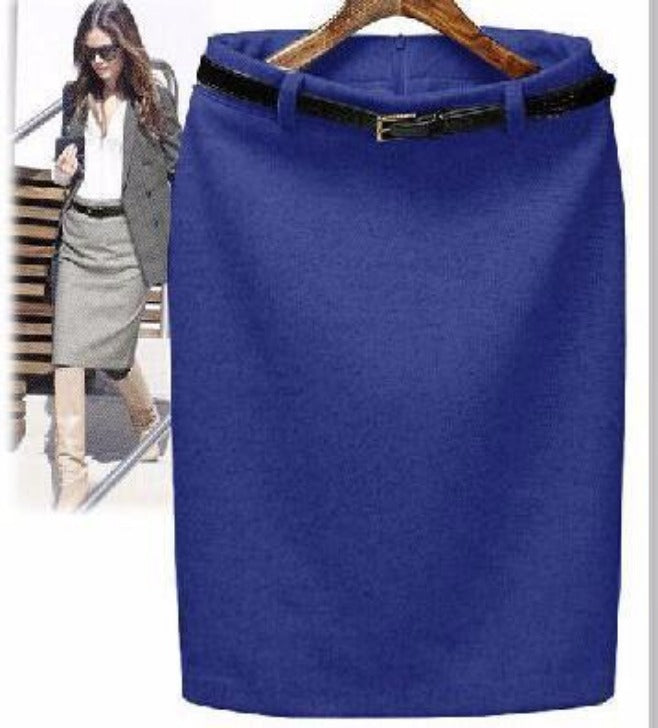 Spring Slim Hip High Waist Office Work Pencil Skirt-Dress-SheSimplyShops