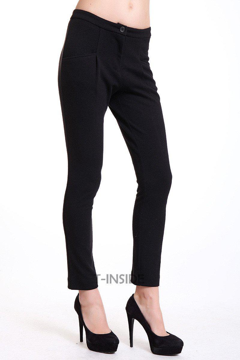 T-Inside Brand Women's Casual Fitted Mid Waist Pencil Pants Daily Wear with Pocket Ankle Length High Quality-PANTS-SheSimplyShops