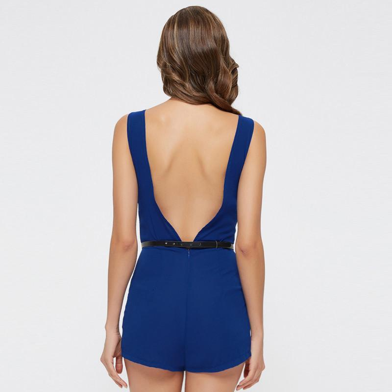 Sexy Backless Sashes Rompers-ROMPERS & JUMPSUITS-SheSimplyShops