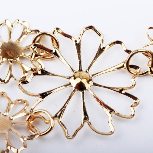 Hot sale Brand Design western style Multilayer Pendants Rhinestone gold hollow flowers necklace jewelry statement-NECKLACES-SheSimplyShops