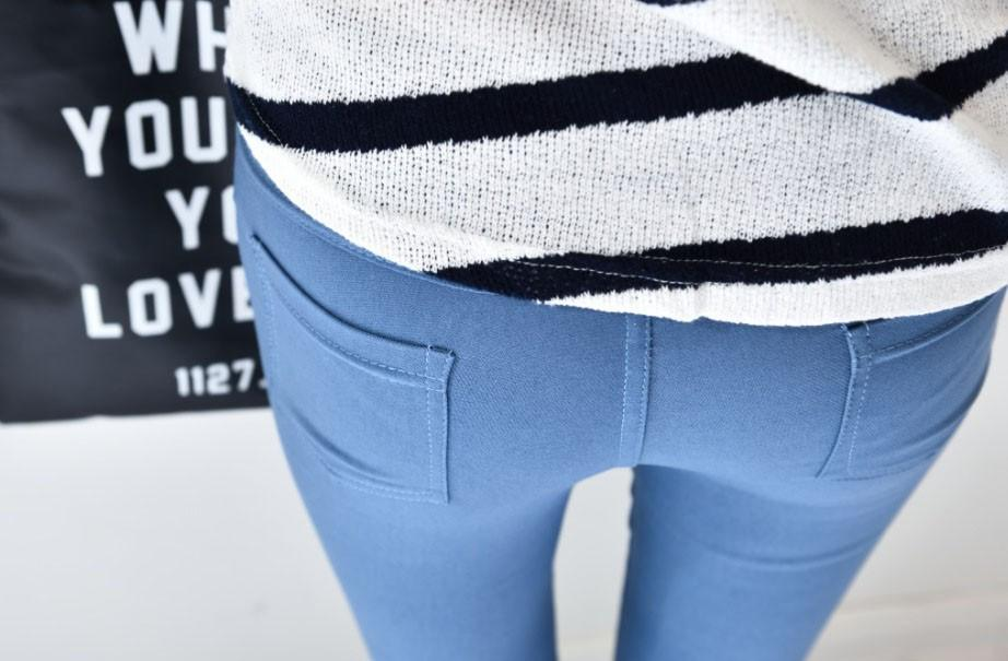New Fashion Womens Spring Autumn Casual Skinny Jeans Leggings Woven Slim High Elastic Denim Pencil Pants Pocket For Women-JEANS-SheSimplyShops