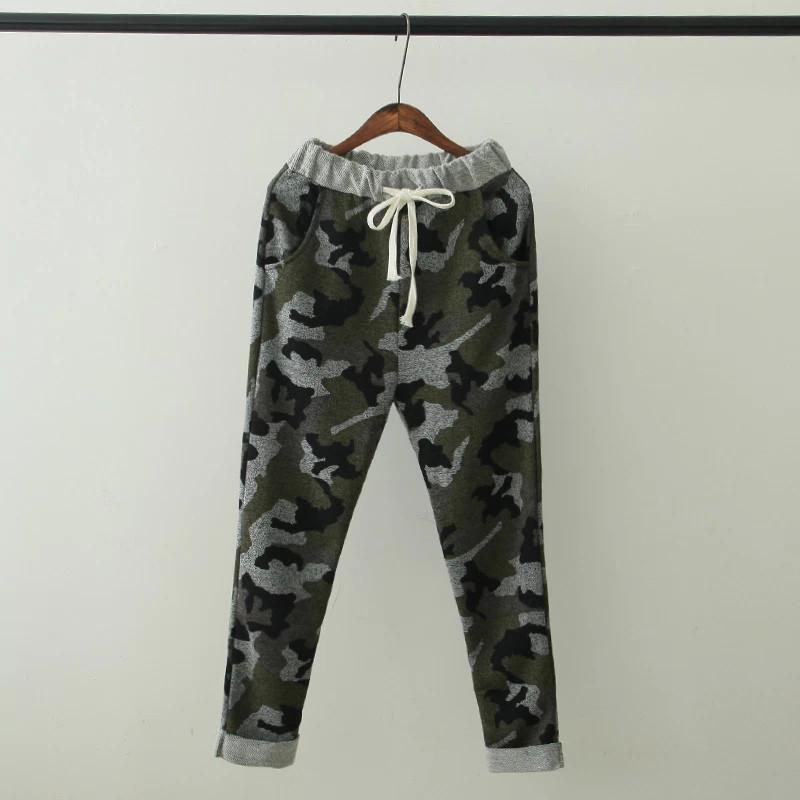 XLJ69 Women harem Pants Fashion Couple Camouflage Print Drawstring elastic waist Pocket Trousers Casual brand hip hop sport-ACTIVEWEAR-SheSimplyShops