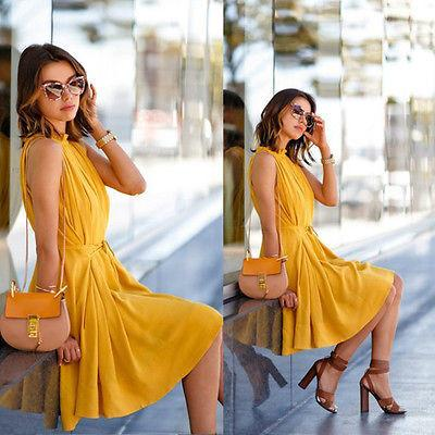 Sexy Women Summer Casual Sleeveless Evening Party Dress Short Mini Dress-Dress-SheSimplyShops