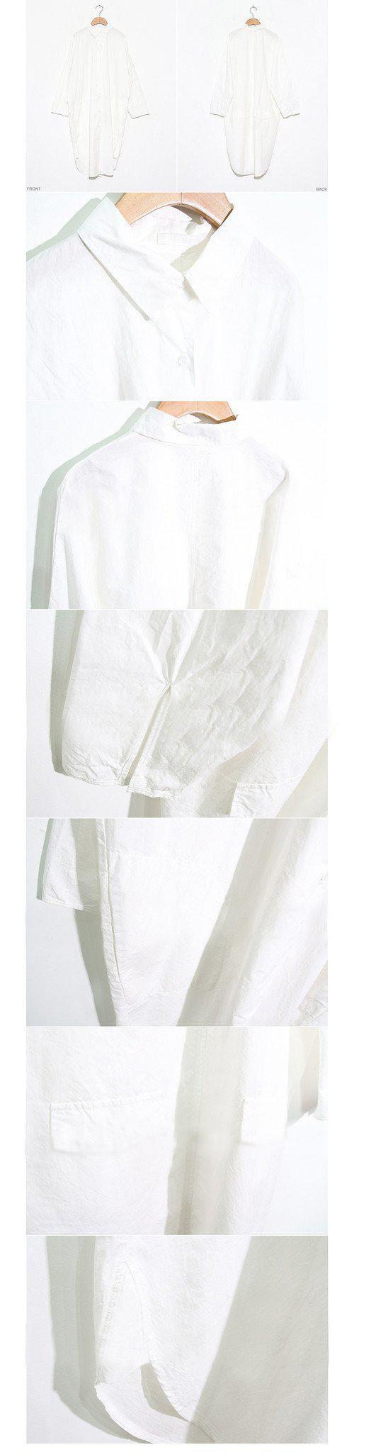 Spring Women Shirts Star Model Is Very Small Buttoned Pockets Garments Blouse Shirt White 3263-Blouse-SheSimplyShops