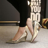 Charming Golden Silver Pumps-shoes-SheSimplyShops