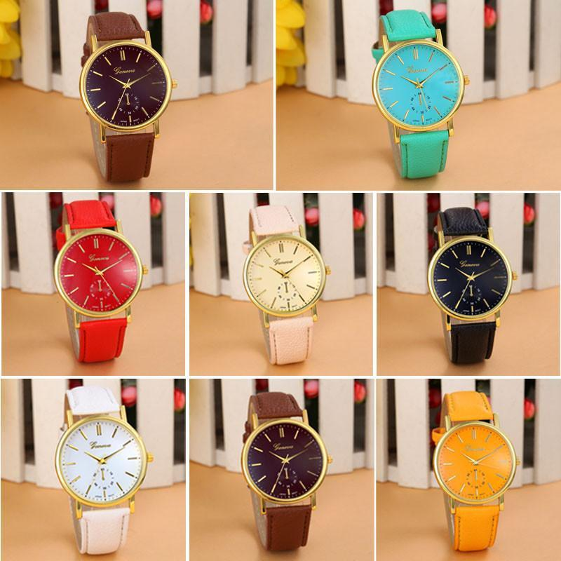 Wavors Cheap Watch Women Relogio Feminino Luxury Faux Leather Analog Quartz Watch Woman Wrist Watches-Dress-SheSimplyShops