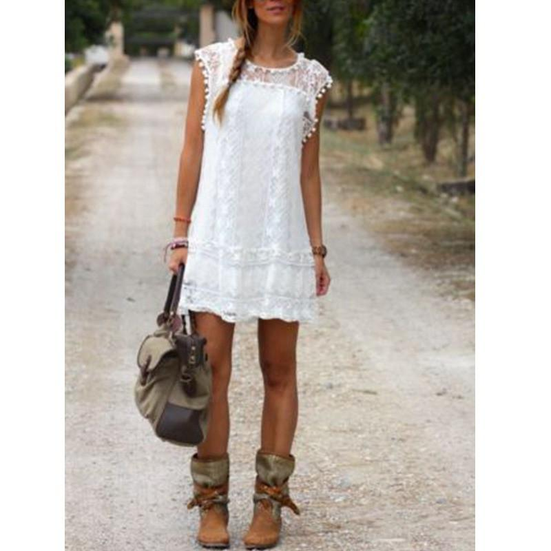 Casual Solid Short Sleeve Mini Dress-Dress-SheSimplyShops