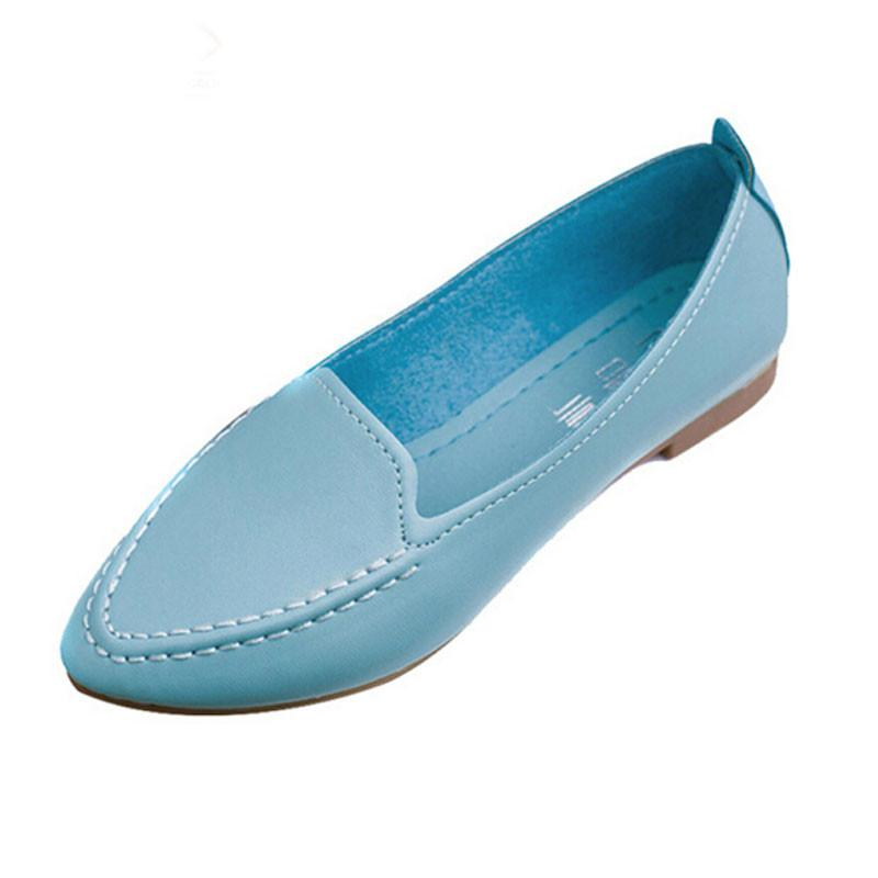 Casual Pointed Toe Slip-On Soft Comfortable Flat Shoes-SLIPS-SheSimplyShops