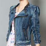 New Wash Style Denim Jacket-DENIM-SheSimplyShops