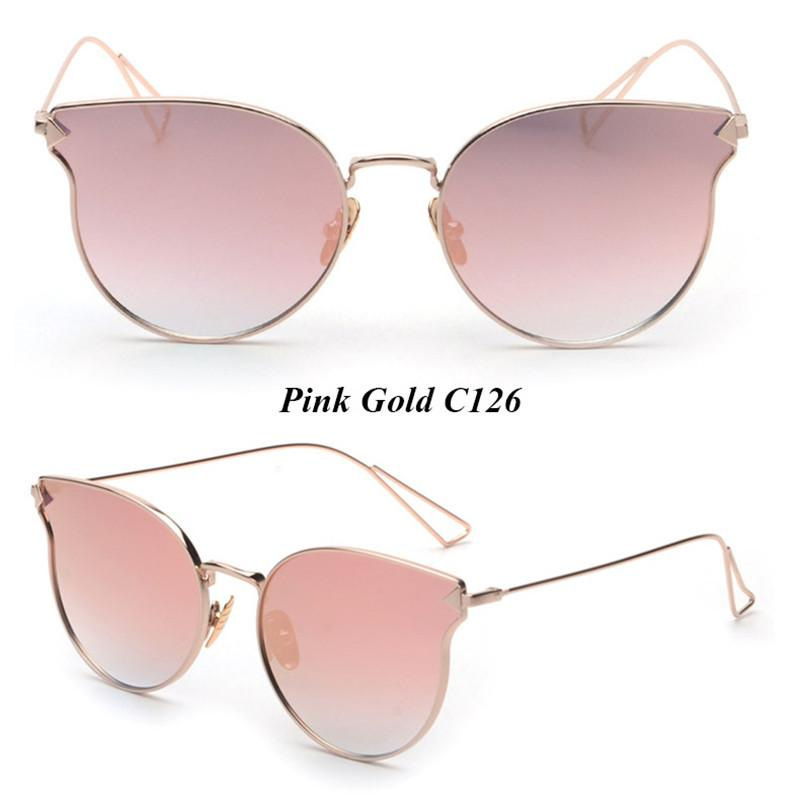 New Flat Lens Sunglasses Steampunk Fashion Eyewear Vintage Retro Sun Glasses Women Men Brand Designer UV400-SUNGLASSES-SheSimplyShops