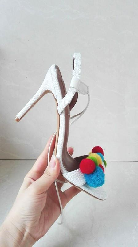Summer Shoes Woman Sandals High Heels Pom Pom Sandals Women Shoes Open Toe Women Sandals Sexy Ankle Strap-SHOES-SheSimplyShops