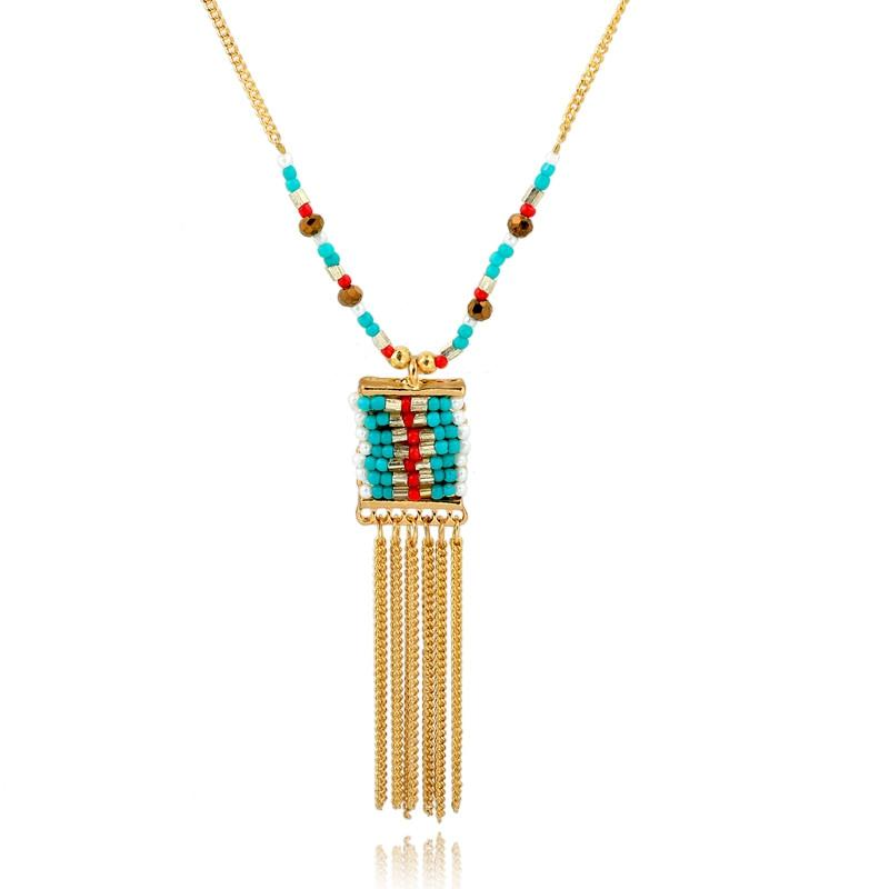 Long Beaded Statement Necklace-Maxi-SheSimplyShops