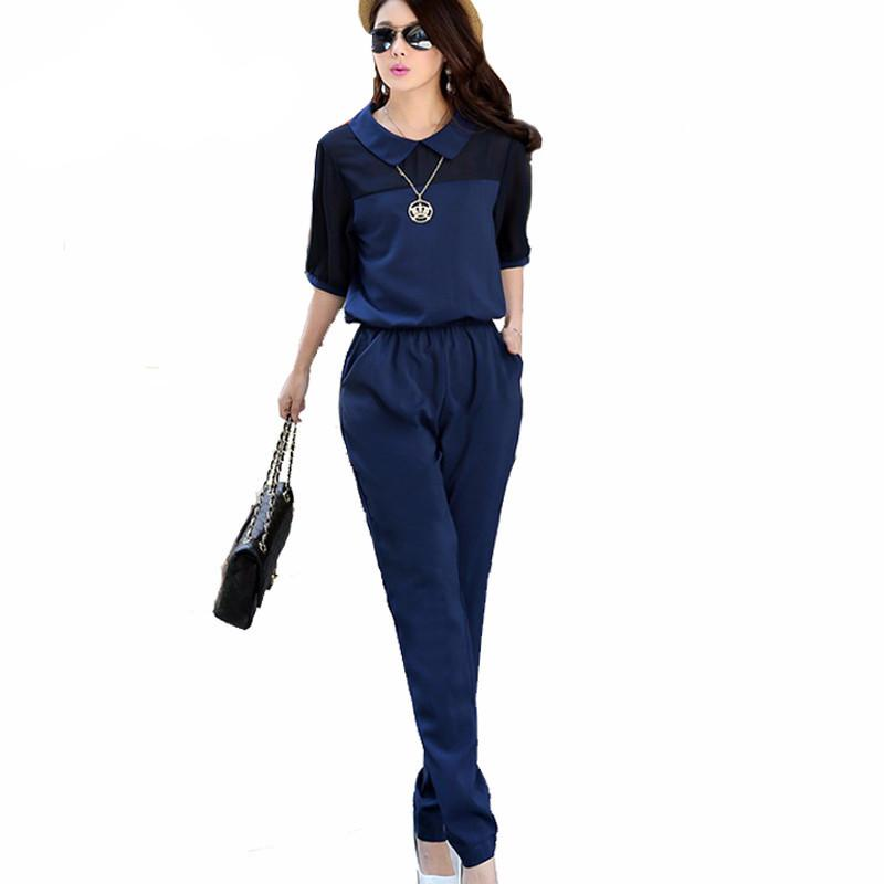 Elegant One Piece Lapel Jumpsuits-ROMPERS & JUMPSUITS-SheSimplyShops