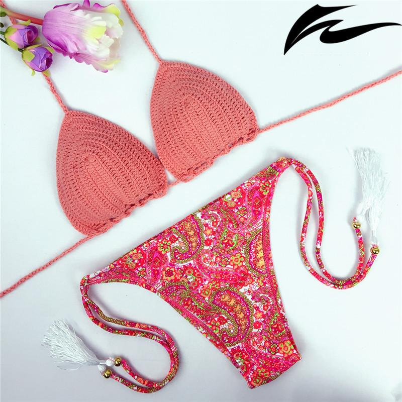Women Vintage Summer Bikini Sexy Crochet Bikini Swimwear Knitted Bikini Swimsuit Handmade Bathing Suit-SWIMWEAR-SheSimplyShops