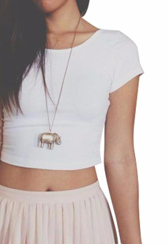 T-shirt Summer Style Crop Top Fashion-SHIRTS-SheSimplyShops