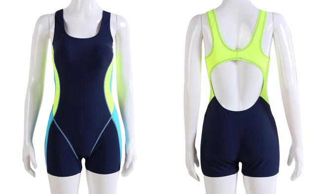 Bodysuits Sports Athletic Swimwear One Piece Swimsuit Swimming Tight Women Boy shorts-SheSimplyShops