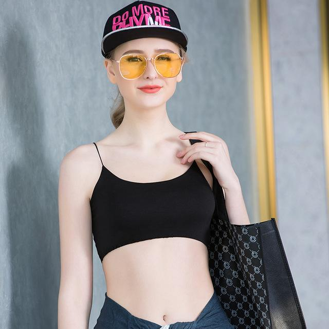 Sports Bra Women Fitness Top Sport Bra Black White Full Cup Seamless Yoga Bra Letter Quick Dry Gym Sport Bra Top-ACTIVEWEAR-SheSimplyShops