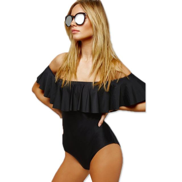 One Piece Swimwear Bikini Swimsuit Women Bathing Suit Solid Female Beach Wear-SheSimplyShops