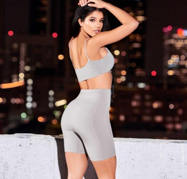 2 Layers Sexy Two Piece Set Top And Pants 2 piece Set Women Shorts Crop Top Summer sets Tracksuit Women-SheSimplyShops