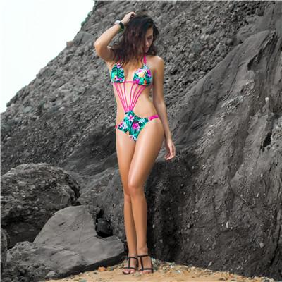One Piece Swimsuit Backless Swimwear Women Bandage Swimwear Bathing Suit Beachwear-SWIMWEAR-SheSimplyShops