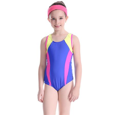 Kids One Piece Swimsuit Girls Patchwork Swimwear Swimming Suit Sportswear-ACTIVEWEAR-SheSimplyShops