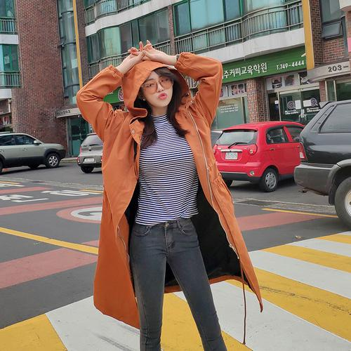Plus Size Long Coat Women Causal Trench Autumn Long Sleeve Hoodies Female Overcoat Woman Loose Harajuku Windbreaker