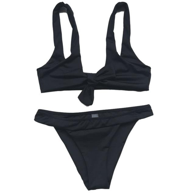 Bandage Swimwear Women Solid Bikini Set Sexy Swimsuit Women'S Beach Wear Bikinis Women Bathing Suit Bikini-SWIMWEAR-SheSimplyShops