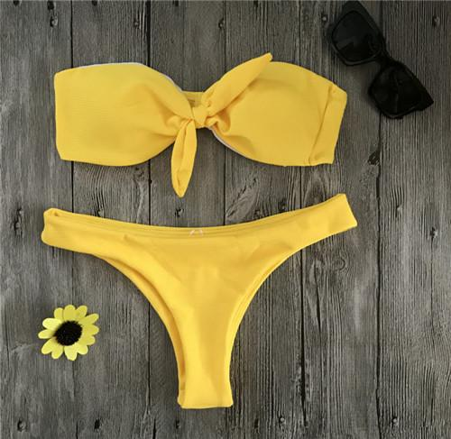 Yellow Swimsuit Women Push Up Sexy Bikini Set Bra Swimwear Bathing Suit Bikini Black Swimming Suit Micro Bikini-SWIMWEAR-SheSimplyShops