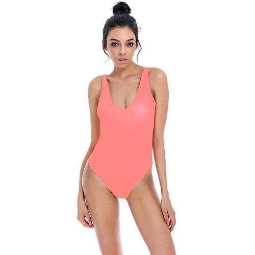 Swimwear women solid swimsuit high waist knockout bikini set double-banded-SheSimplyShops