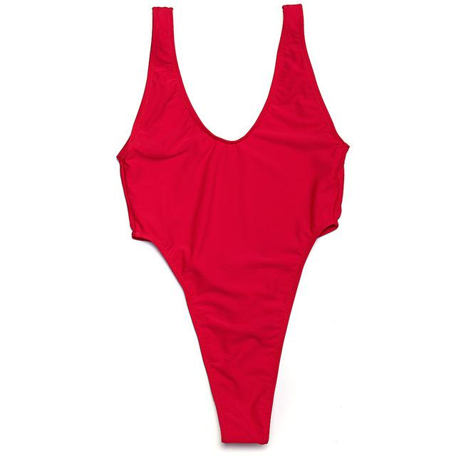New One Pieces swimsuit Thong swimwear Backless Women Sexy Swimsuit Solid swimming suit summer beach wear-SWIMWEAR-SheSimplyShops