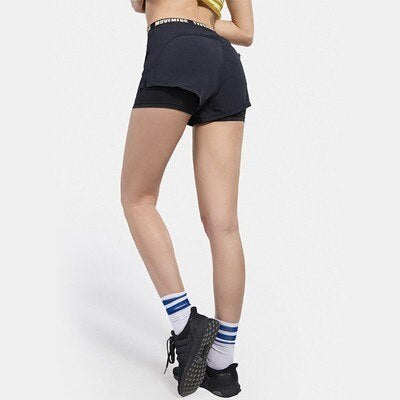 Yoga Sport Shorts Fitness Women Short Leggings High Elastic 2 In 1 Breathable Gym Jogging Workout Running Shorts Sports Clothing