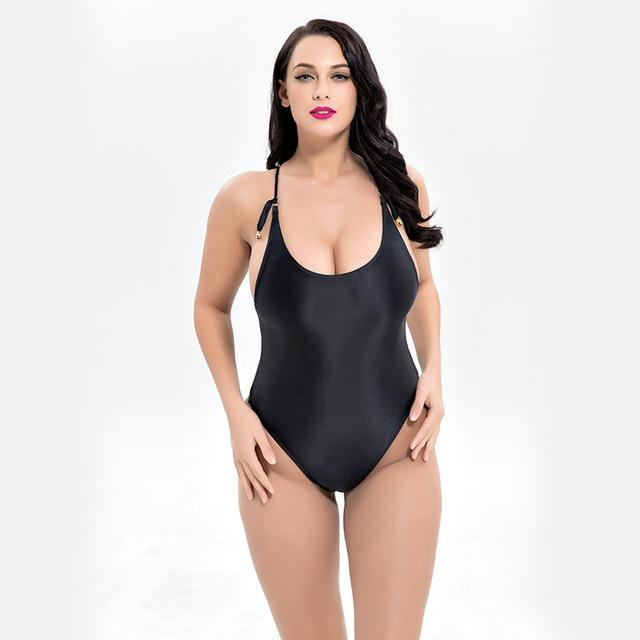 sexy one piece swimsuit women swimwear padded bodysuit female bandage bathing suit beachwear-SWIMWEAR-SheSimplyShops