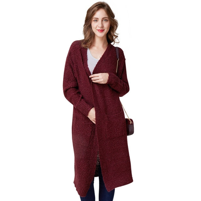 Autumn Winter Women Cardigan Sweater Female Loose Thin Wool Knitted Oversized Long Sleeve Knitwear For Girls Slim
