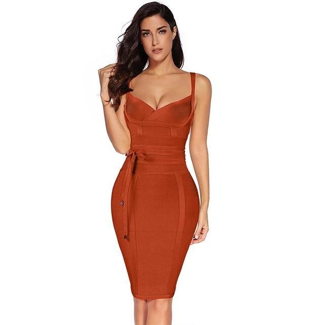 Women Bandage Dress Rayon Sleeveless Summer New Arrivals Sexy Deep v Neck Bodycon Bandage Dress Club Party-Dress-SheSimplyShops