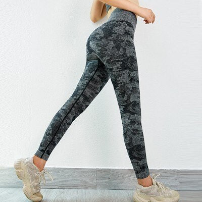 Camo Seamless Leggings Fitness Women Yoga Pants Push Up Gym Leggings High Waist Sport Leggings Yoga Sport Wear For Women Gym