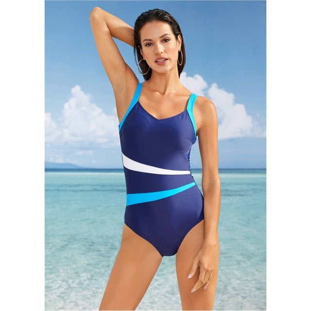 LI FI One Piece Swimsuit Women Classic Vintage Swimwear Sliming Push Up Bathing Suit Summer Swimming Suit Beachwear XXL