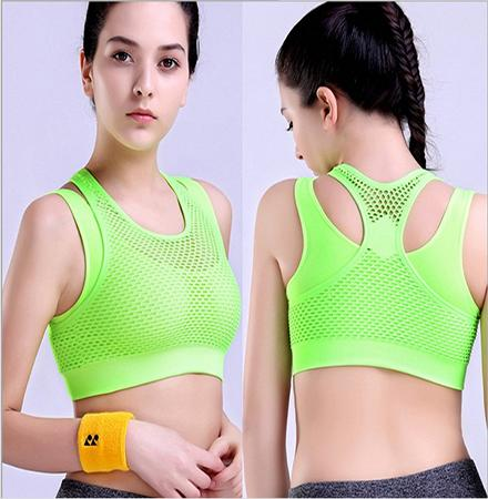 Women Yoga Fitness Sport Running Bra Push Up Top Vest Sexy Breathable Net Shock Proof Mesh Workout Sport Clothes Slim Bra-SheSimplyShops