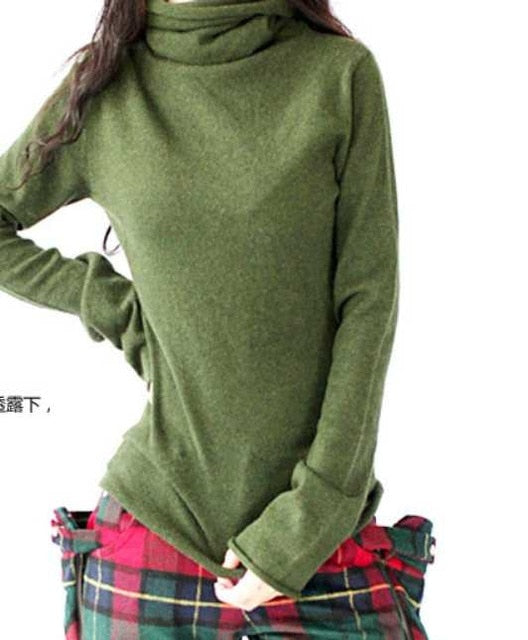 Winter Pullover Women Sweater Cashmere Warm Pullovers Clothes TurtLeneck Sweaters