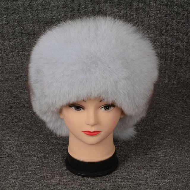Jancoco Max Fox Fur Bomber Hats Winter Women Warm High Quality Caps S7148