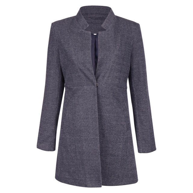 VITIANA Women Coat Female Autumn Winter Casual Long Sleeve Black Woolen Coats Jacket Ladies Office Outwear Clothes