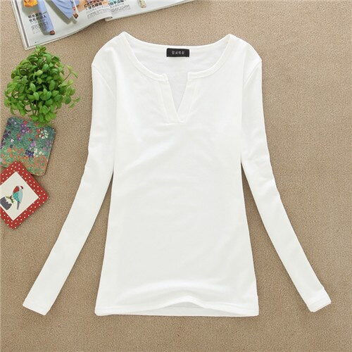 Sweaters O Neck Long Sleeved Pullover Women Sweater Basic Shirt Top Sweater Knitted Solid Black White