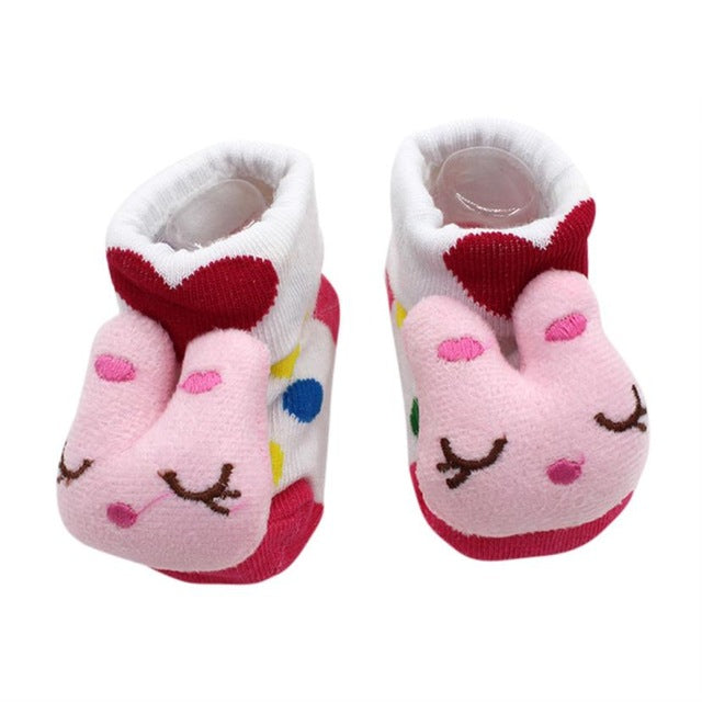 MUQGEW clothing Cartoon born Baby Girls Boys Anti Slip Socks Slipper Shoes Boots kids clothes sports suit