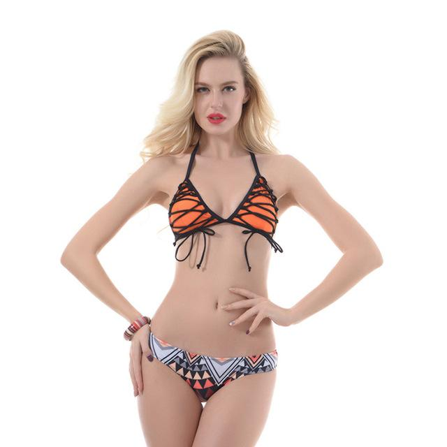 Bikini Low Waist Bikinis Set Swimwear Women's Swimsuits Halter Micro Bikini Swimsuit Female Bather Beachwear-SheSimplyShops