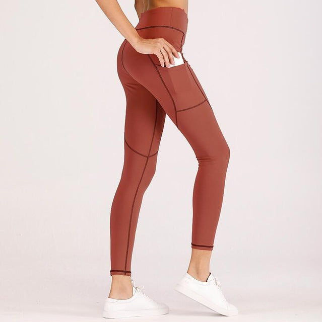 High Elastic Fitness Sport Leggings Tights Slim Running Sportswear Sports Pants Women Yoga Pants Quick Drying Training Trousers