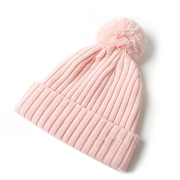 GOPLUS Spring winter pompom Knitted Hat for Women Solid cotton Casual Beanie Female vintage Warm Knitted Caps Ladies beanie