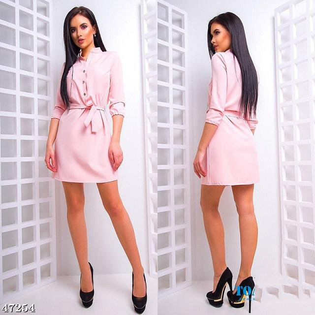 Women Fashion stand collar Loose Dress Elegant Waist band Beach Party Dresses Casual 3/4 sleeve female-Dress-SheSimplyShops