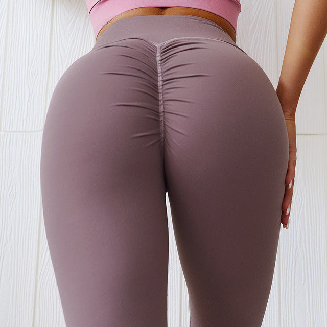 High waist Scrunch Booty Fitness Athletic Leggings Women Soft Nylon Yoga pant Gym Workout Sport Training Tights Pants XS XL