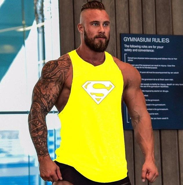 3edf29a80435b8 Skull Bodybuilding Fitness Stringer Men Tank Top Golds Gorilla Wear Vest  Undershirt Tank Tops-SHIRTS